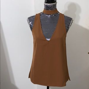 Choker Style Plunge Tank Top